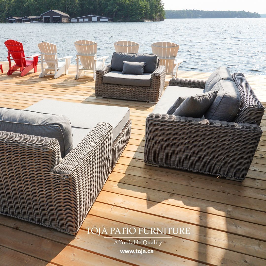 Comfortable Furniture With A Beautiful View Of The Lake What More Could You Ask For Furniture Outdoor Furniture Sets Buy Chair