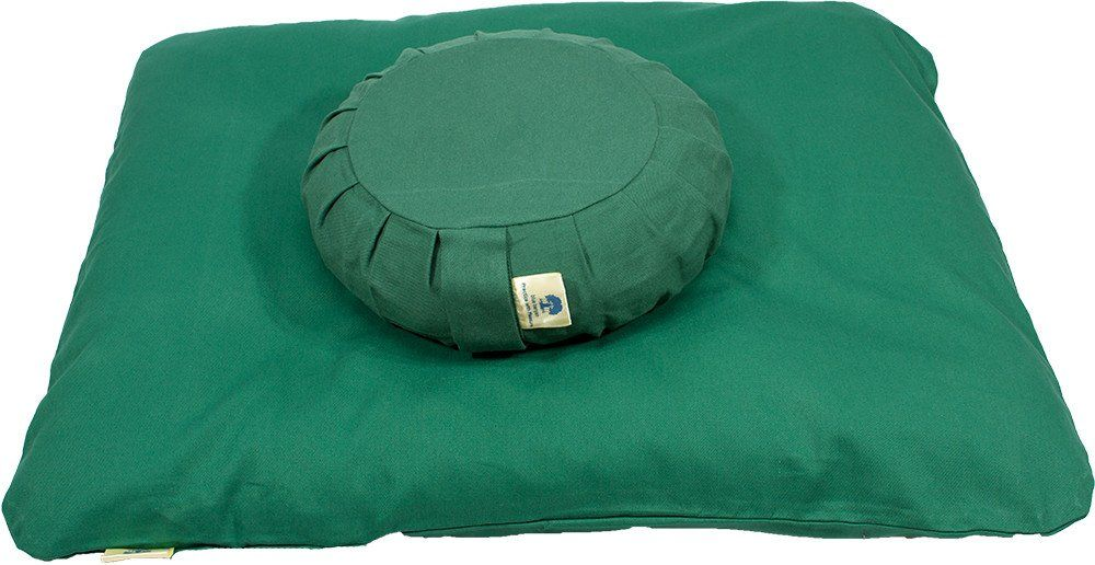 Meditation Cushion Set - Buckwheat. Meditation Cushion Set - Buckwheat.  Since we recommend you use the Zafu Meditation Cushion with the Zabuton Meditation Mat, we have combined them for you in this convenient set. You save money by purchasing the set at $99.00.