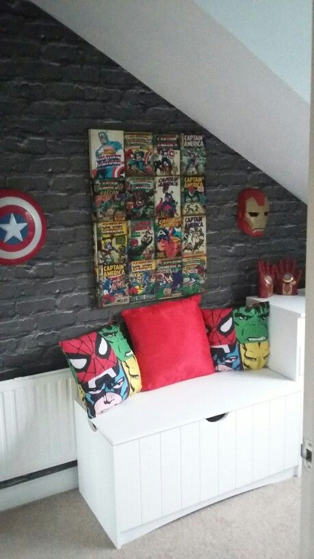 My 5 Year Old Loved His Avengers Room With Images Boys
