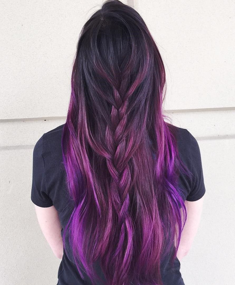 10 Stunning Examples Of Purple Hair Ombre Hair Color Purple