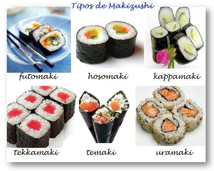 tipos de sushi - Buscar con Google | comida asiatica | Pinterest ...