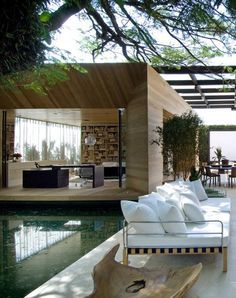 Living outside inside outdoor sectional sofa luxury homes interior modern house also design bungalow rh pinterest