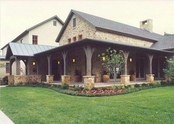 Love The Rap Around Porch House Exterior Farmhouse House Ranch House Plans