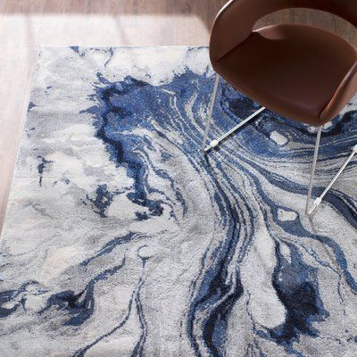 Kaia Abstract Blue Area Rug White Area Rug Cool Rugs Blue Area