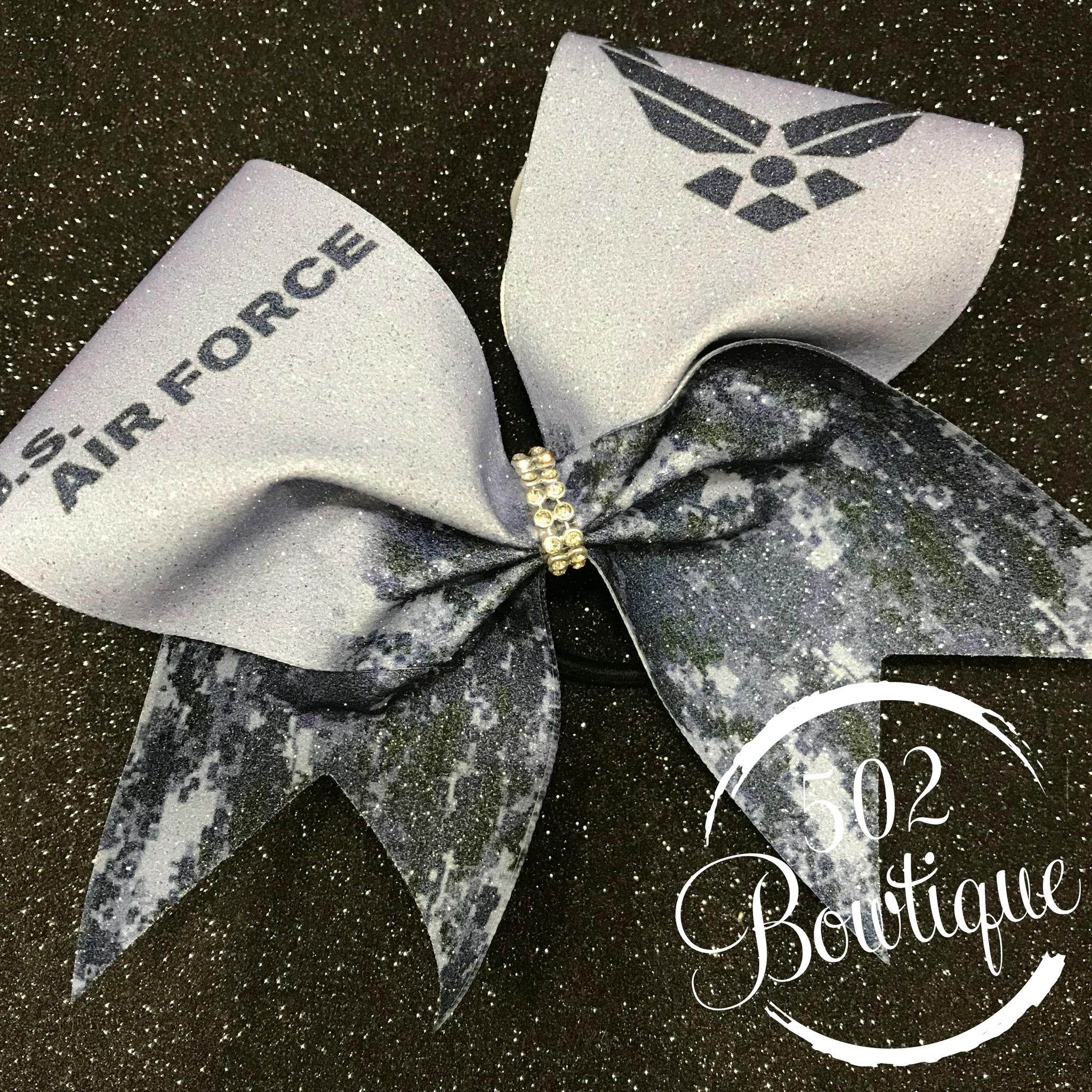 US Air Force Cheer Bow Cheer bows, Christmas cheer bows