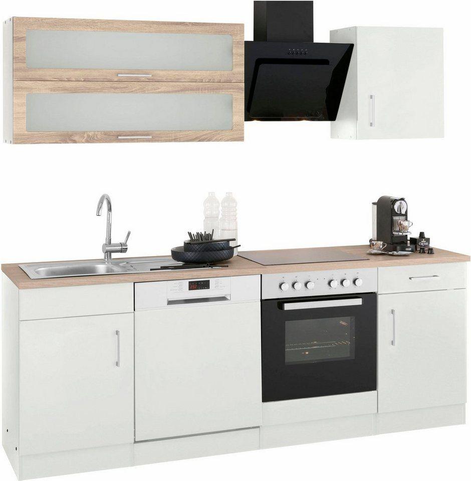 Held Möbel Küchenzeile Utah Mit E Geräten Breite 220 Cm