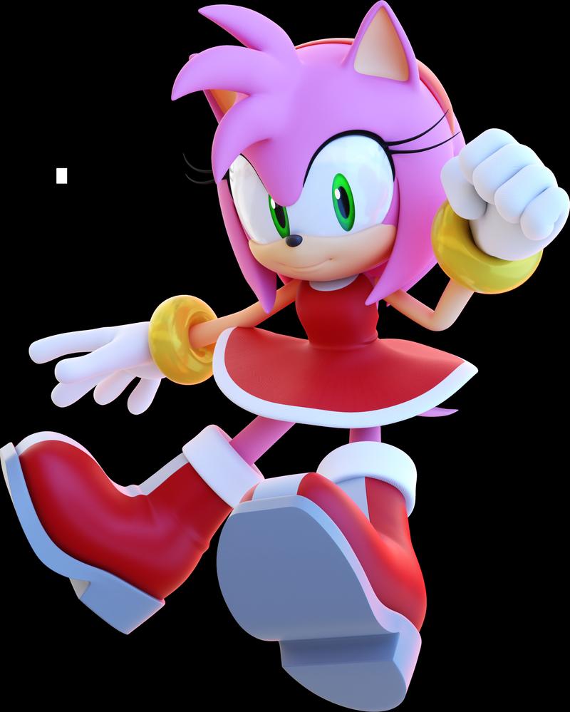 Blender Happy Amy Rose By Anthonyblender On Deviantart Sonic Art Amy Rose Amy