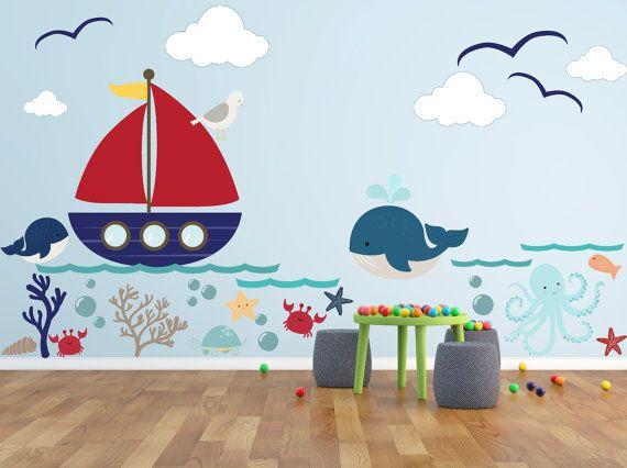 kinder wandtattoos unterwasserwelt wal von rockymountaindecals bruno pinterest wal. Black Bedroom Furniture Sets. Home Design Ideas