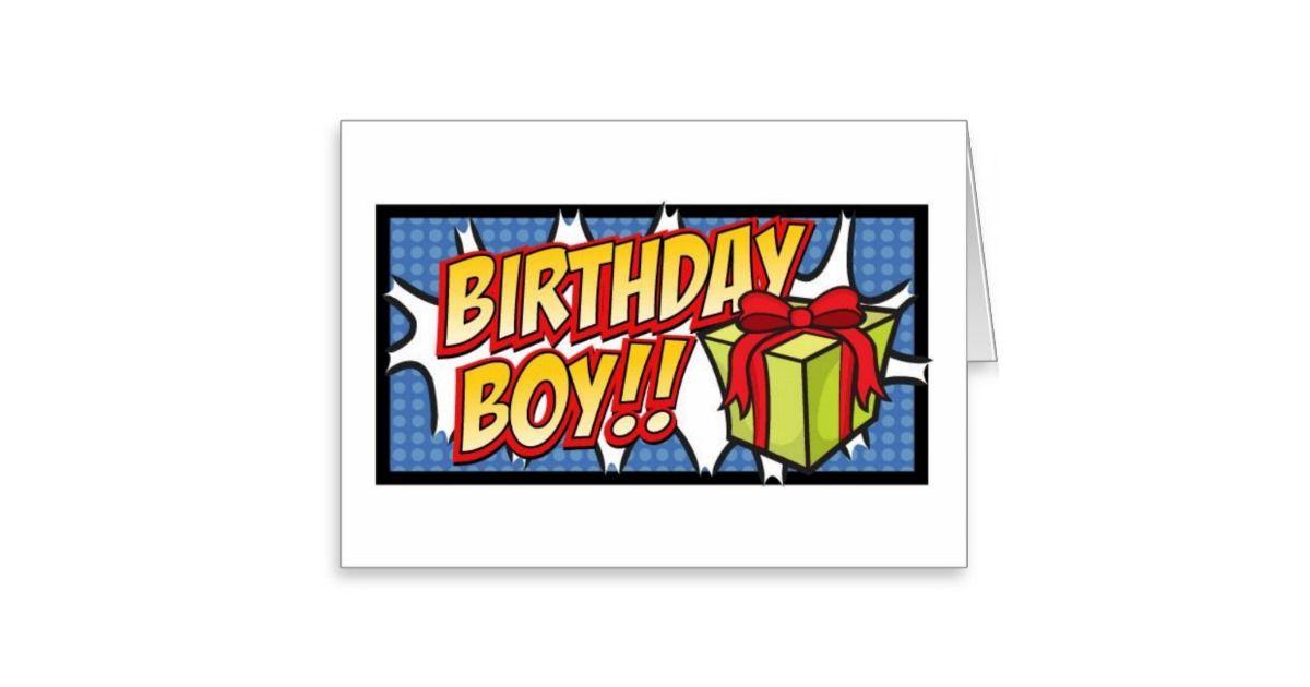 Birthday Boy Stationery Note Card