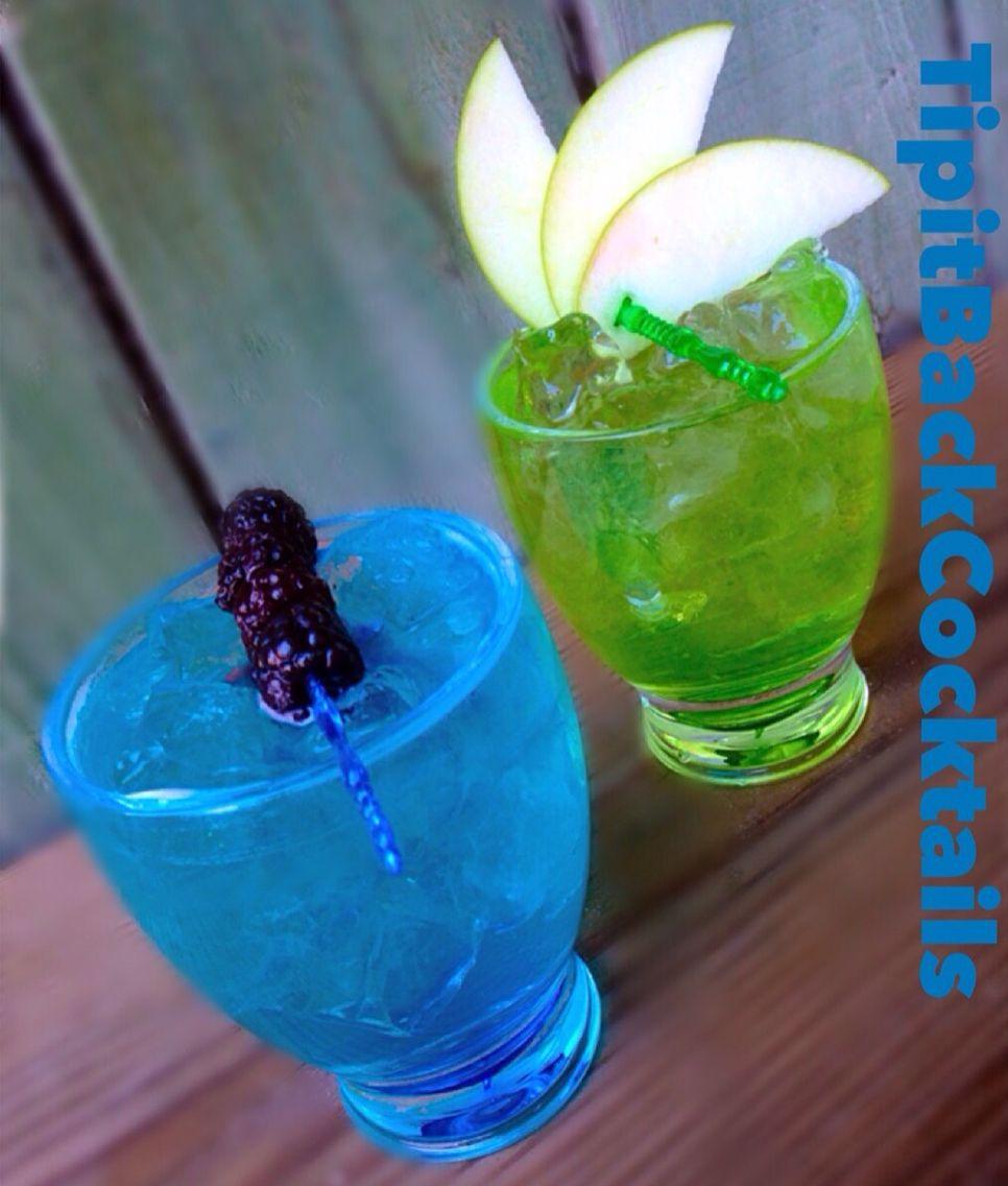Blue Green Long Islands Green Apple Long Island 1 2 Oz Gin 1 2 Oz Silver Tequila 1 2 Oz Vodka 1 2 White Alcoholic Cocktails Lemon Lime Soda Fun Drinks