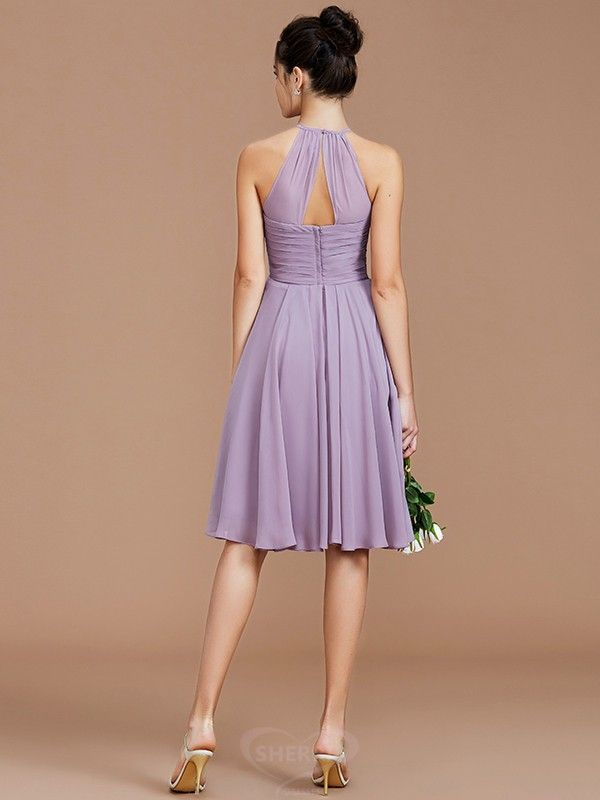 becaf336a1 A-Line Princess Halter  Chiffon Sleeveless Short Mini  Bridesmaid  Dresses   sherridress  fashion  shortbridesmaiddresses