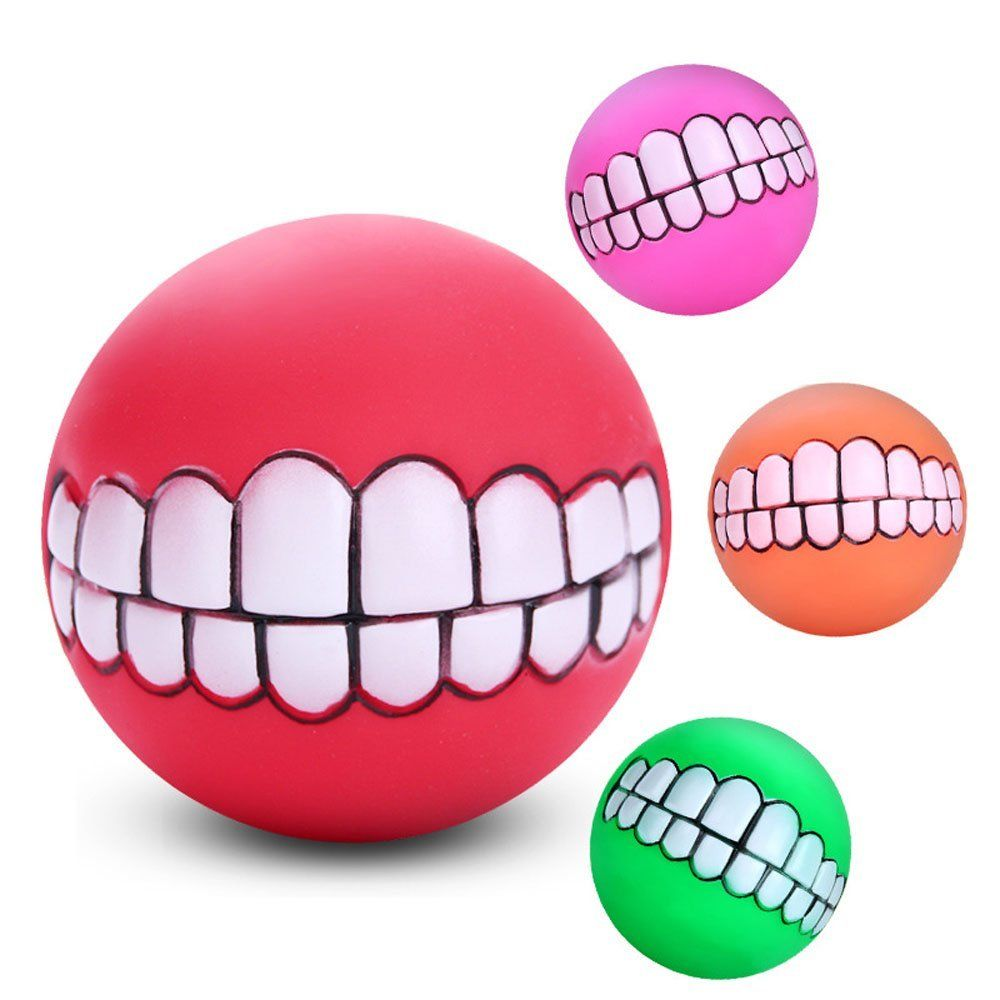 Efanr Pet Voice Plastic Ball Toys Teeth Massage Clean Ball Dog Cat