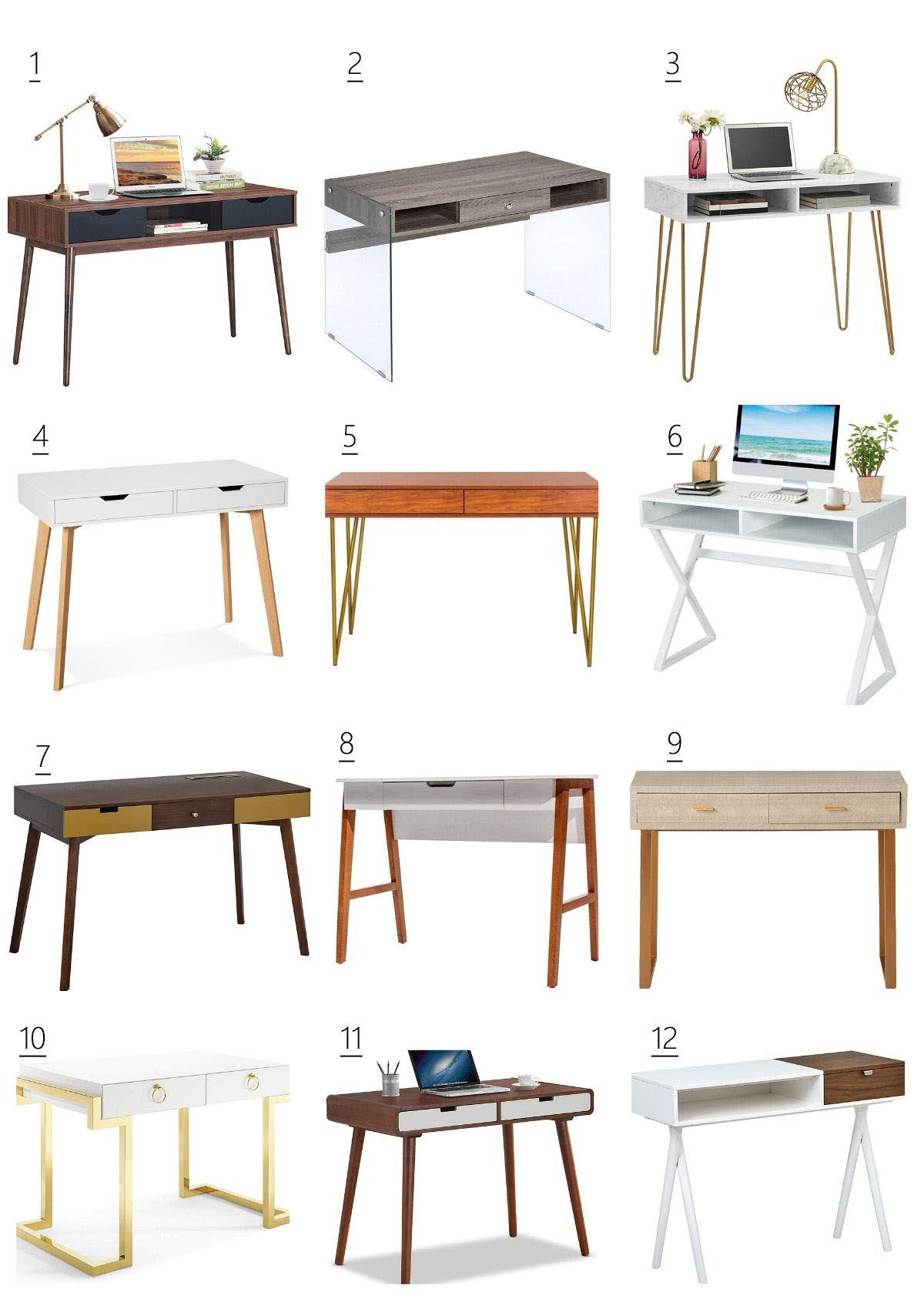 Work From Home: 24 Modern Desks, Perfect For Small
