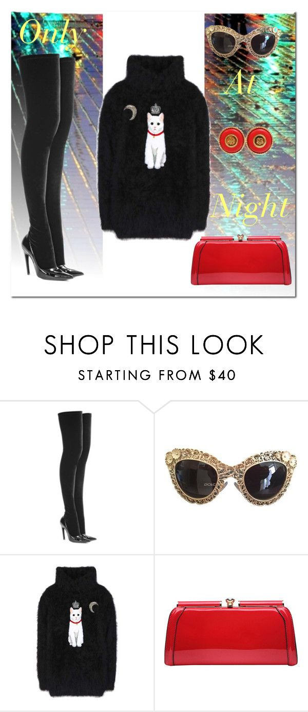 """""""Only at night"""" by queenlogos on Polyvore featuring Balenciaga, Dolce&Gabbana, MKF Collection and Chanel"""