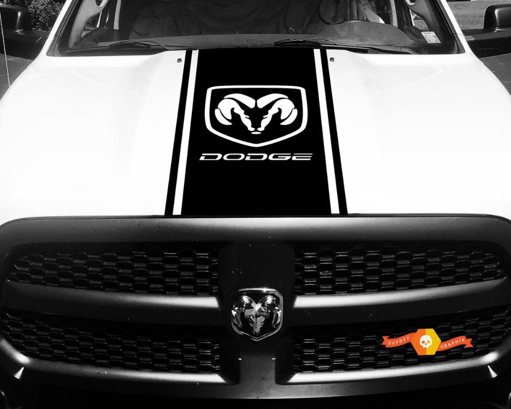 Product Dodge Ram 1500 2500 3500 Vinyl Racing Stripe Hemi Hood Decals Stickers 2 Vinyl Racing Stripes Vinyl Avery Vinyl