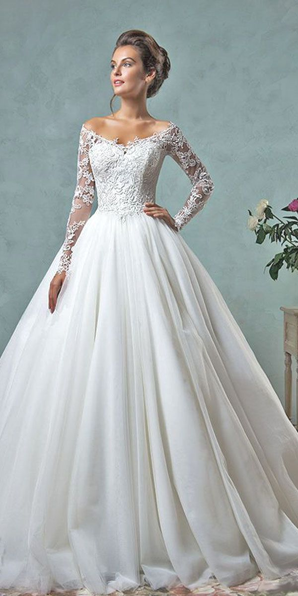 d69b23e0bd8 Wedding dresses with long sleeves 2016 Disney Wedding Dresses