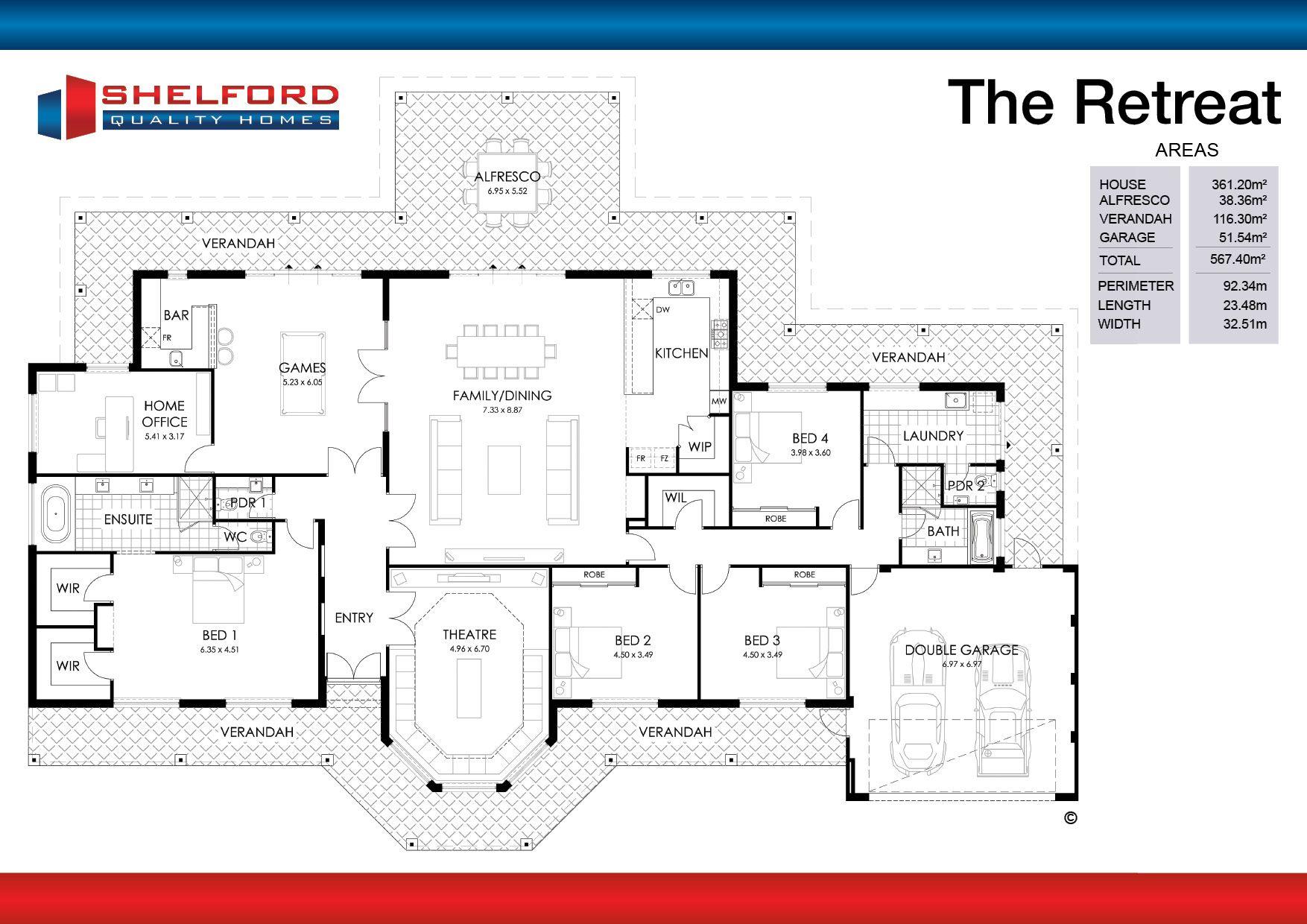 Retreat Floor Plans House Design Home Builders