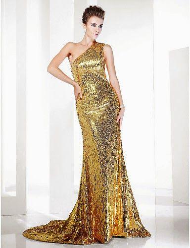 2115a080c Vestido de noche de lentejuelas dorado EVE   Vestidos de Fiesta Baratos