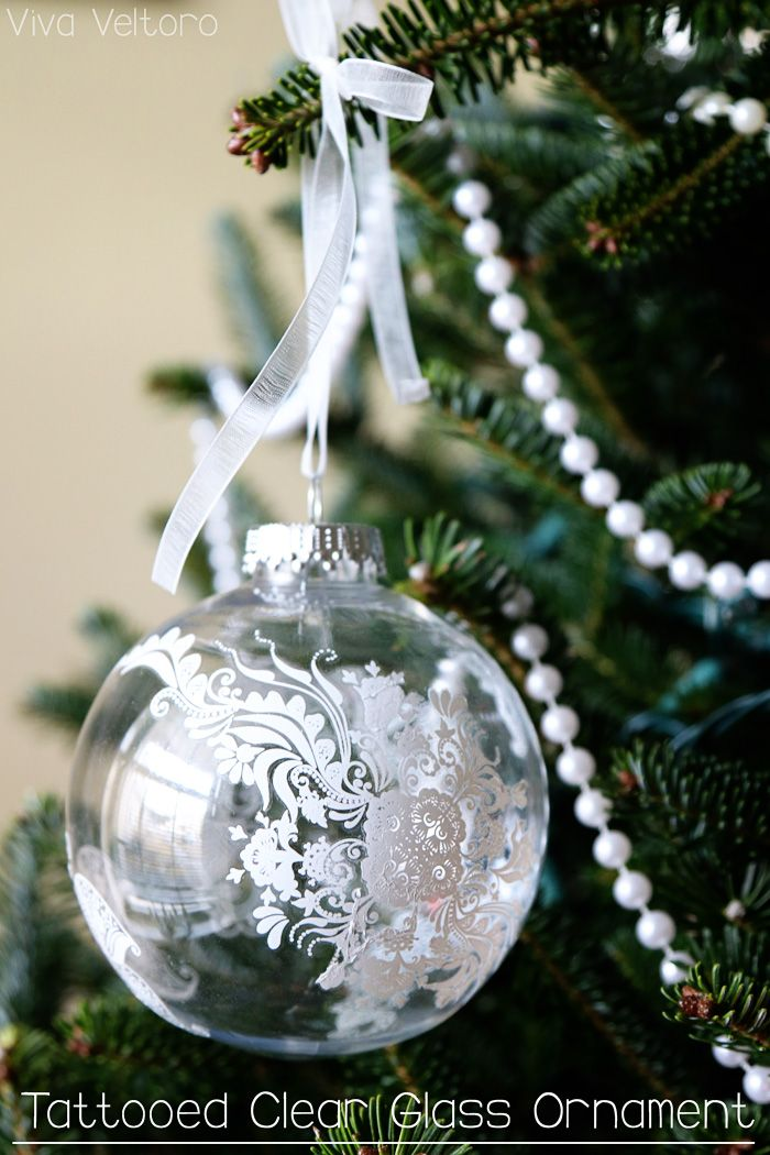 Diy Clear Glass Tattoo Ornament Would Be Super Pretty If You