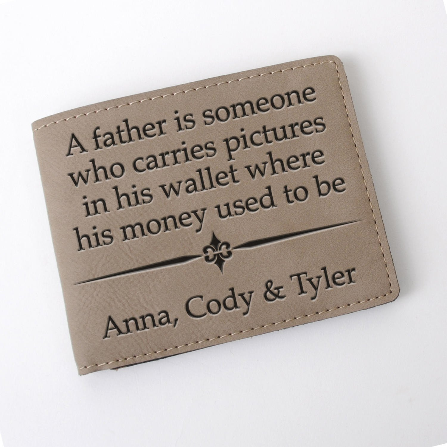 1ae891bb753c Mens Wallet for Dad - Personalized Father s Day Gift