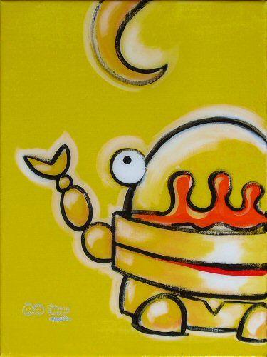 'Sock Monkey Robot,' acrylic and resin on canvas, 16x12, $125