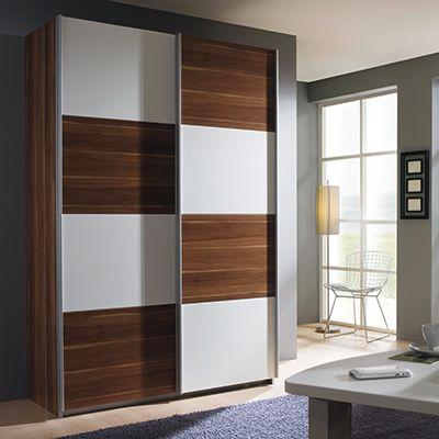 The Quadra 2 Door Sliding Wardrobe Wardrobes at Barker