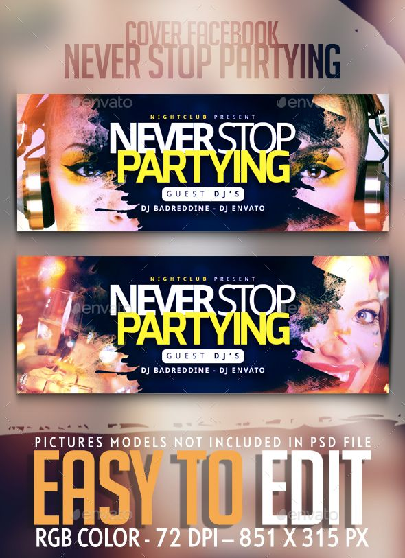never stop partying cover facebook facebook timeline covers