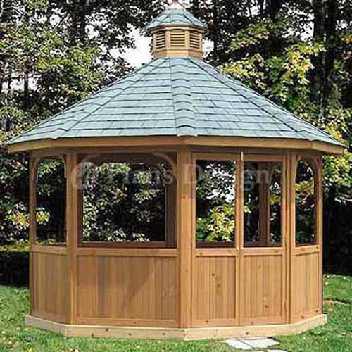 How To Build 12 Octagon Screened Gazebo Plans Material List Include 10112 753182758015 Ebay Gazebo Plans Screened Gazebo Outdoor Pergola