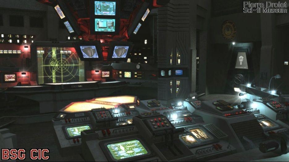 Battlestar Galactica This Cgi 3d Model Replica Of The Bsg Cic