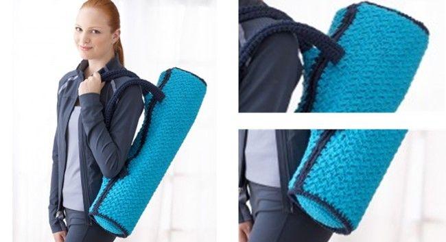 Crochet Namaste Yoga Mat Bag Free Crochet Pattern Yoga Mat Bag Mat Bag Yoga Mat Bag Pattern