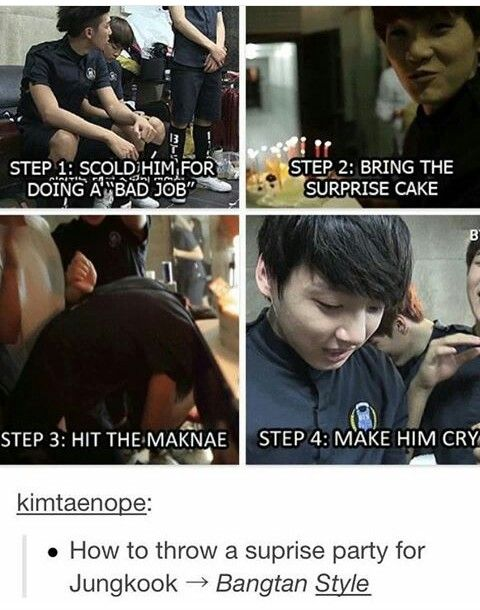 Its Preety Much All Kpop Idols They All Follow This Pattern If They Dont Make The Lerson Cry Whats The Point Bangtan Bts Boys Bts Memes