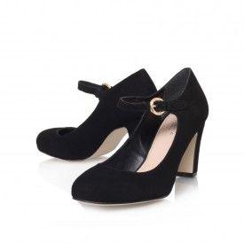 Kurt Geiger   ALKALINE Black Mid Heel Court Shoes by Carvela Kurt Geiger