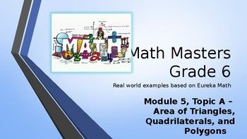 Eureka Math (Engage NY) Introductory PowerPoint - Gr 6, Module 5, Topic A - area