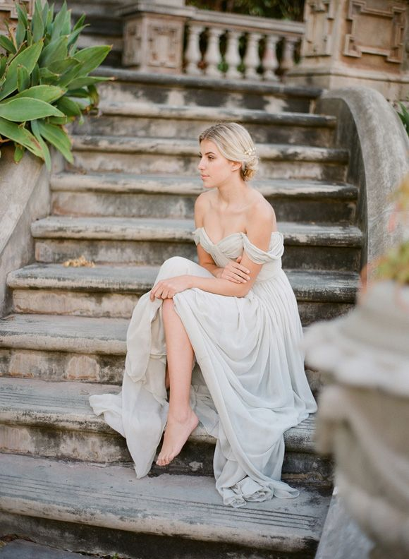 Wedding Sparrow Blog  : Grecian Goddess Inspiration. Bride La Boheme Accessories , Jemma Keech Photography , Alexandra Grecco Gowns