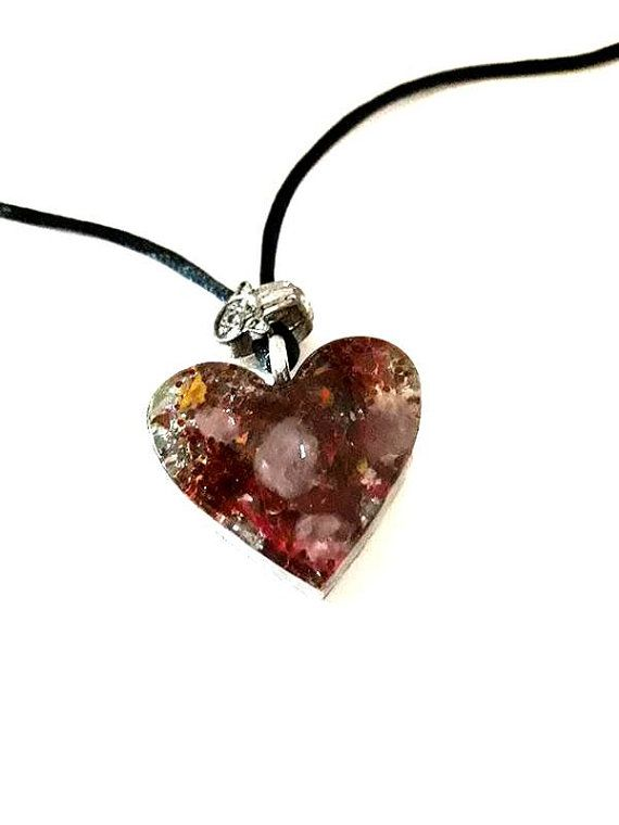 Pendant-Orgonite-Heart-Small-Magic-flowers by ORGONITHEKA on Etsy