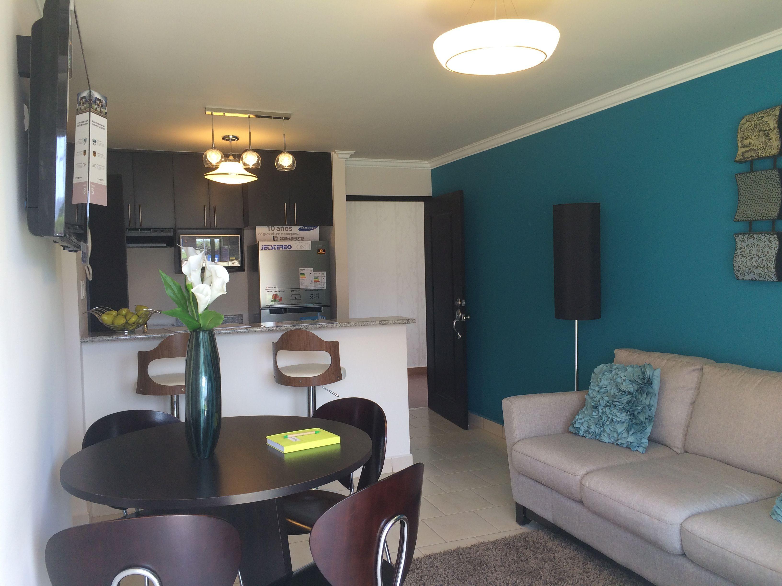 Sala comedor al estilo moderno, los colores de la decoración ...