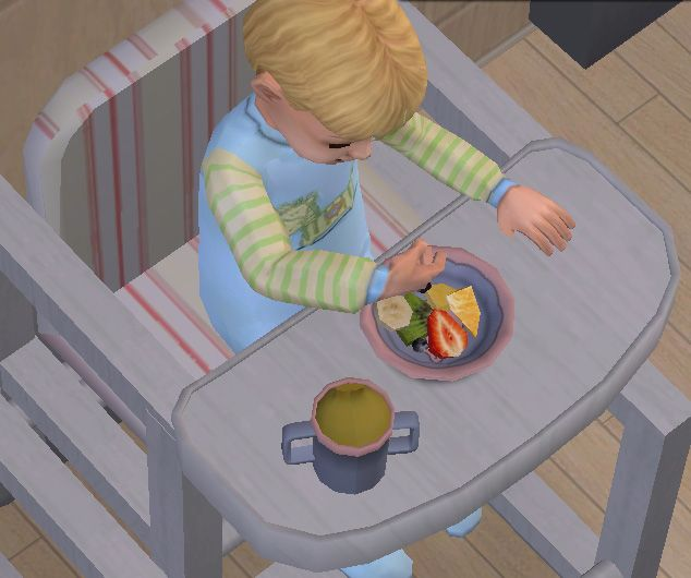 Fruit Salad for toddlers.  Note: this is a Default Replacement, so if you use this, your toddlers will no longer be able to eat cereal.