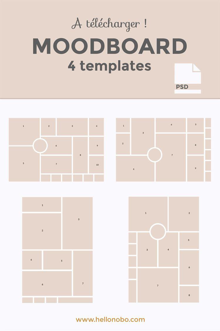 Comment créer un moodboard + 4 modèles à télécharger !
