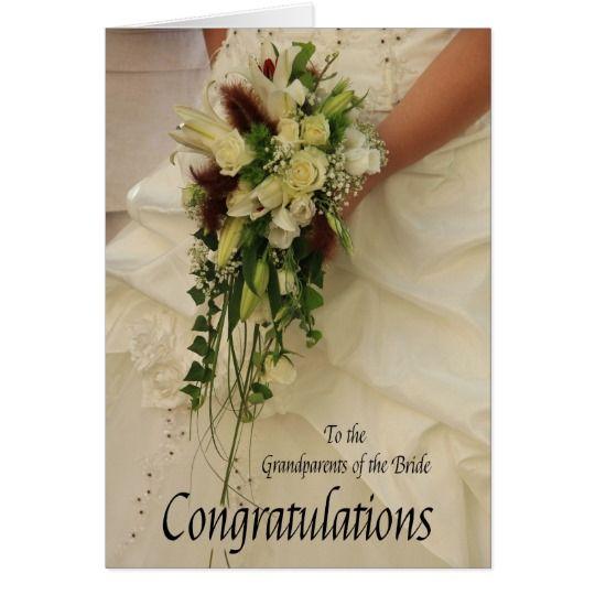 grandparents bride congratulations card