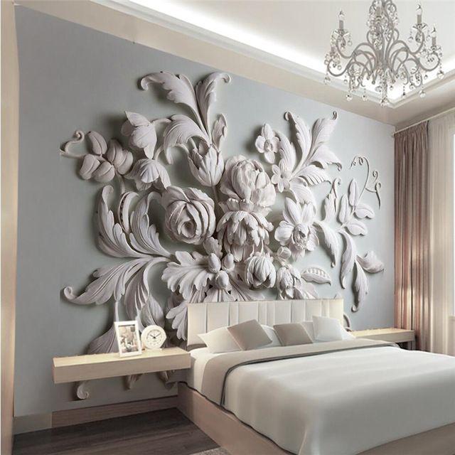 3D photo wallpaper stereoscopic relief European backdrop