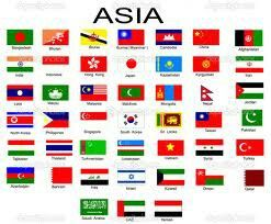 Asian Countries World Flags With Names All Flags All Country Flags