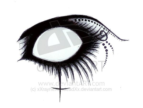 Gothic drawings gothic eye by xxraynexundeadxx on deviantart