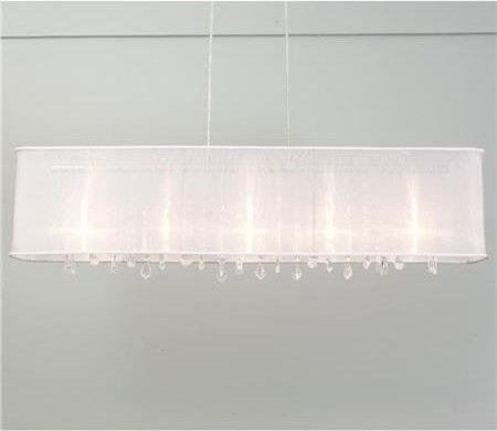 Rectangular organza shade crystal chandelier modern chandeliers rectangular organza shade crystal chandelier modern chandeliers aloadofball Image collections