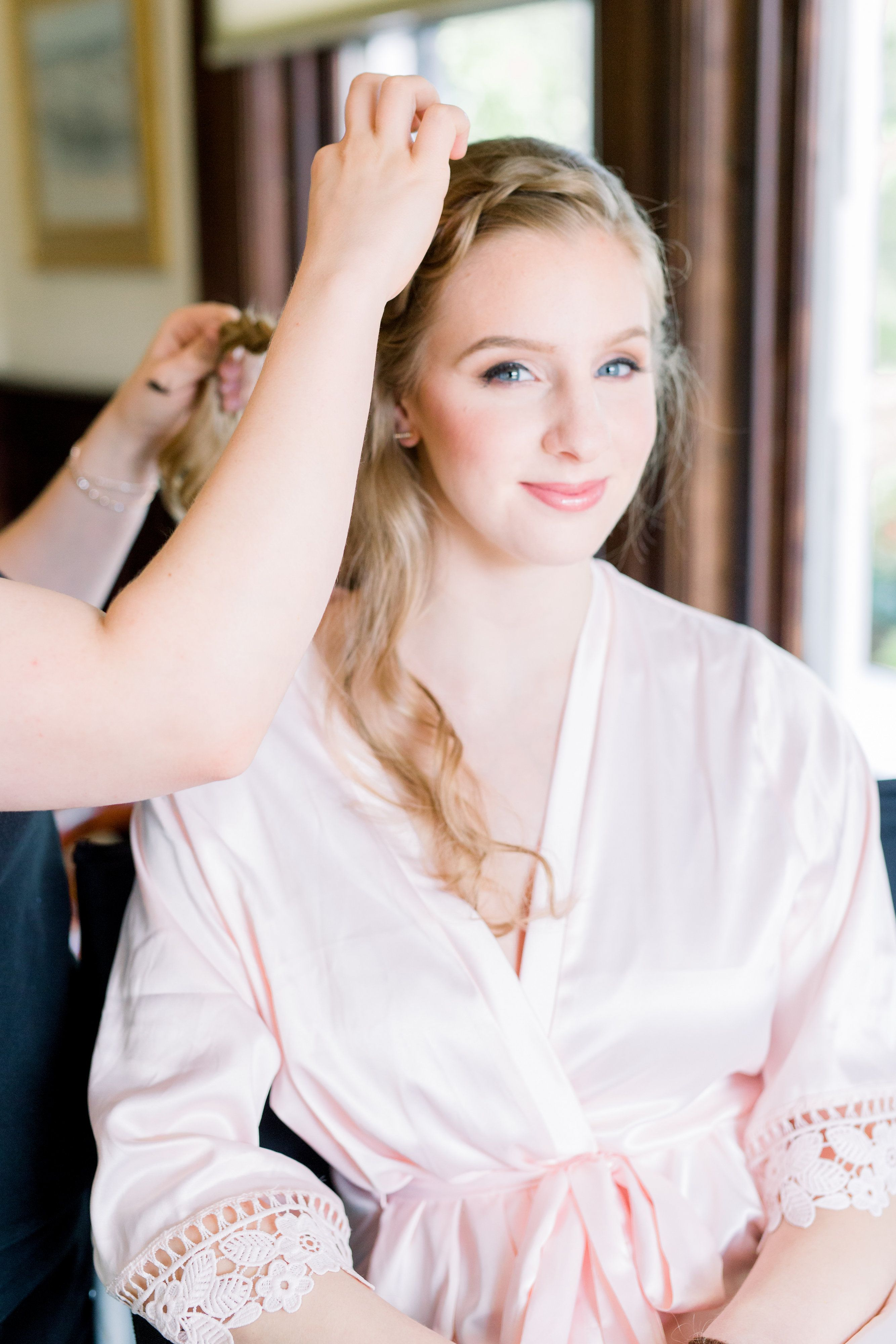 Light Peachy Bridesmaid Makeup For Garden Wedding In Richmond Va At The Lewis Ginter