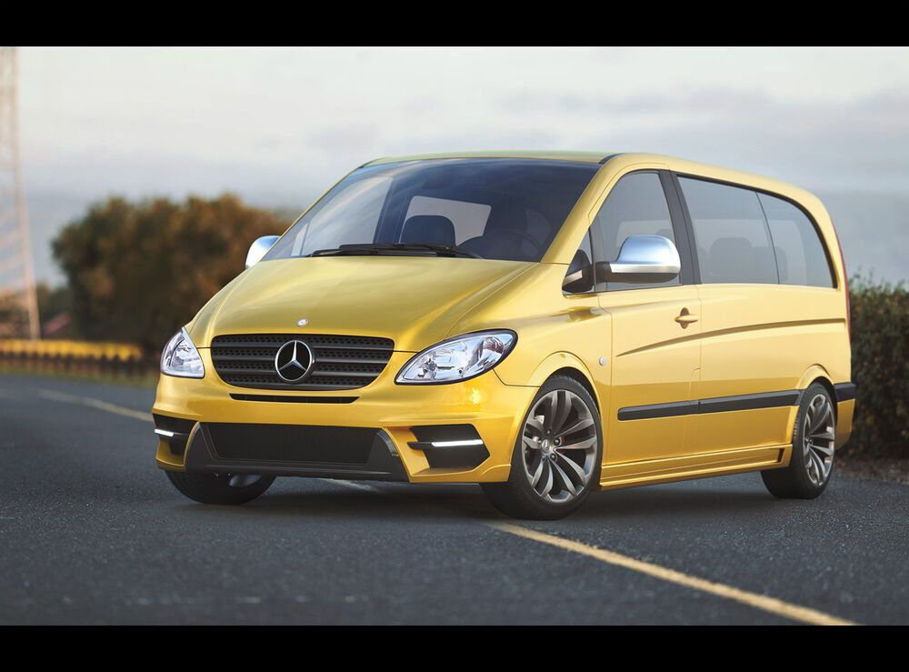 Photo of Mercedes Vito 639 FRONT BUMPER REAR BUMPER SIDE SKIRTS AMG LOOK BODYKIT