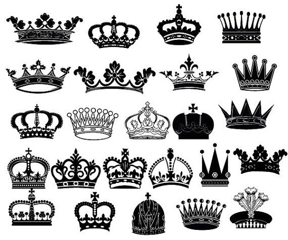 Crown Clipart King Queen Crown Clip Art Royal Crown Clipart Decoration Png And Vector Files Insta Crown Clip Art Queen Crown Tattoo Crown Tattoo