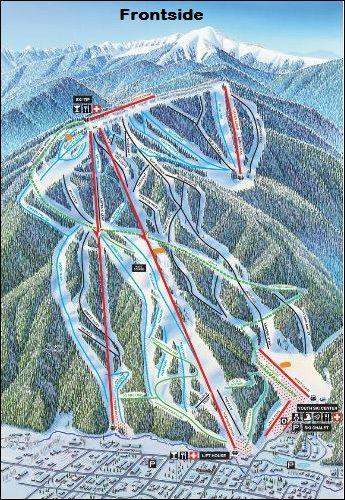Red River Ski Area Trail Map Ski New Mexico Red River New