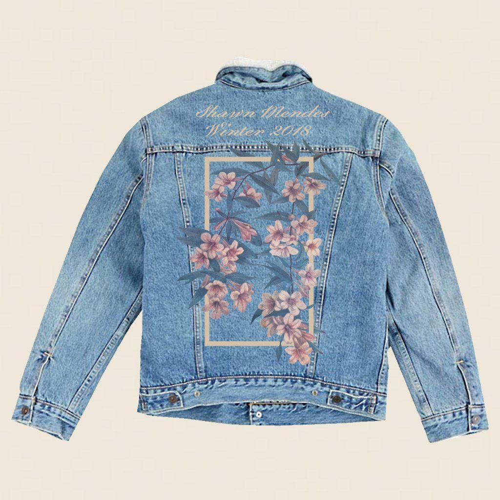 Winter Floral Denim Jacket Shawn Mendes Official Store Denim Jacket Diy Paint Denim Jacket Floral Denim [ 1024 x 1024 Pixel ]