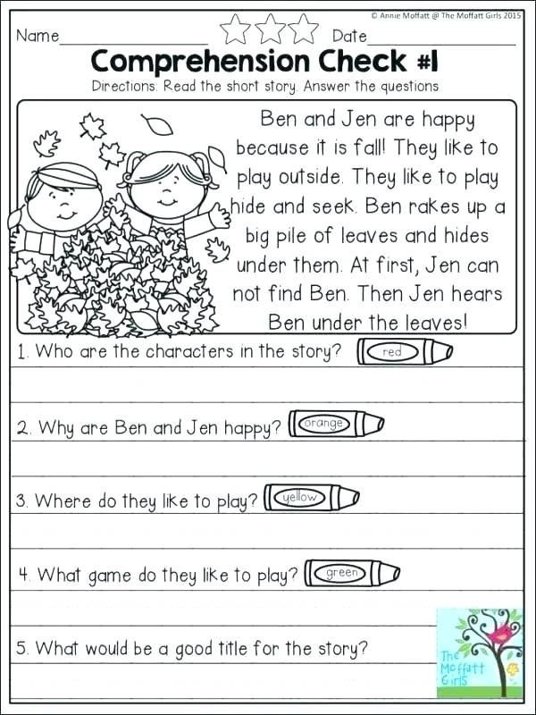 Comprehension Worksheets For Grade 2 With Images Reading