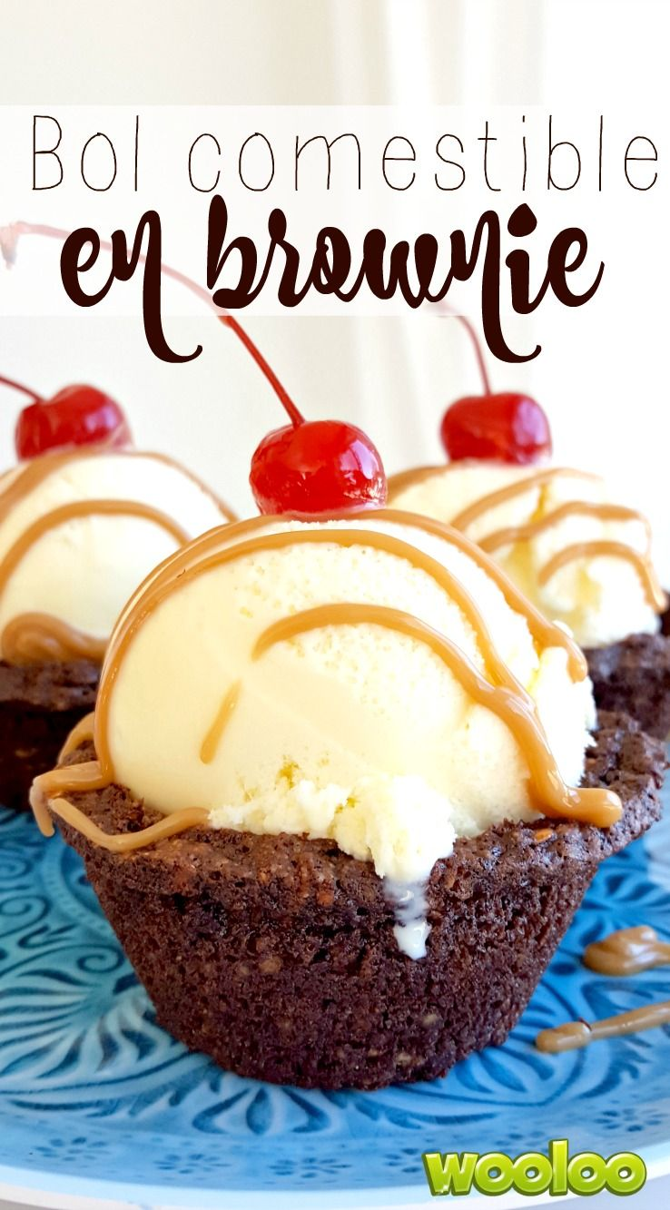 Transformez une recette de brownie ordinaire en sundae extraordinaire! Les enfants vont adorer manger leur crème glacée dans un joli bol comestible en brownie!